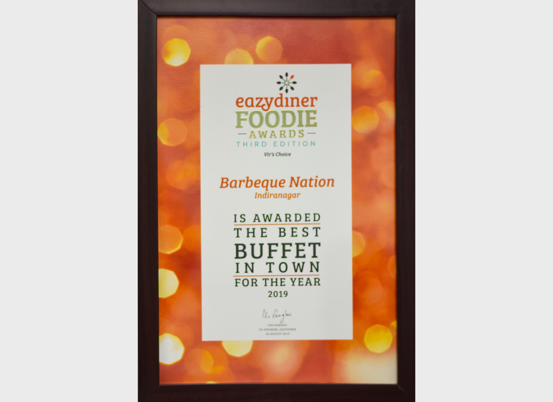Eazydiner Foodie Award