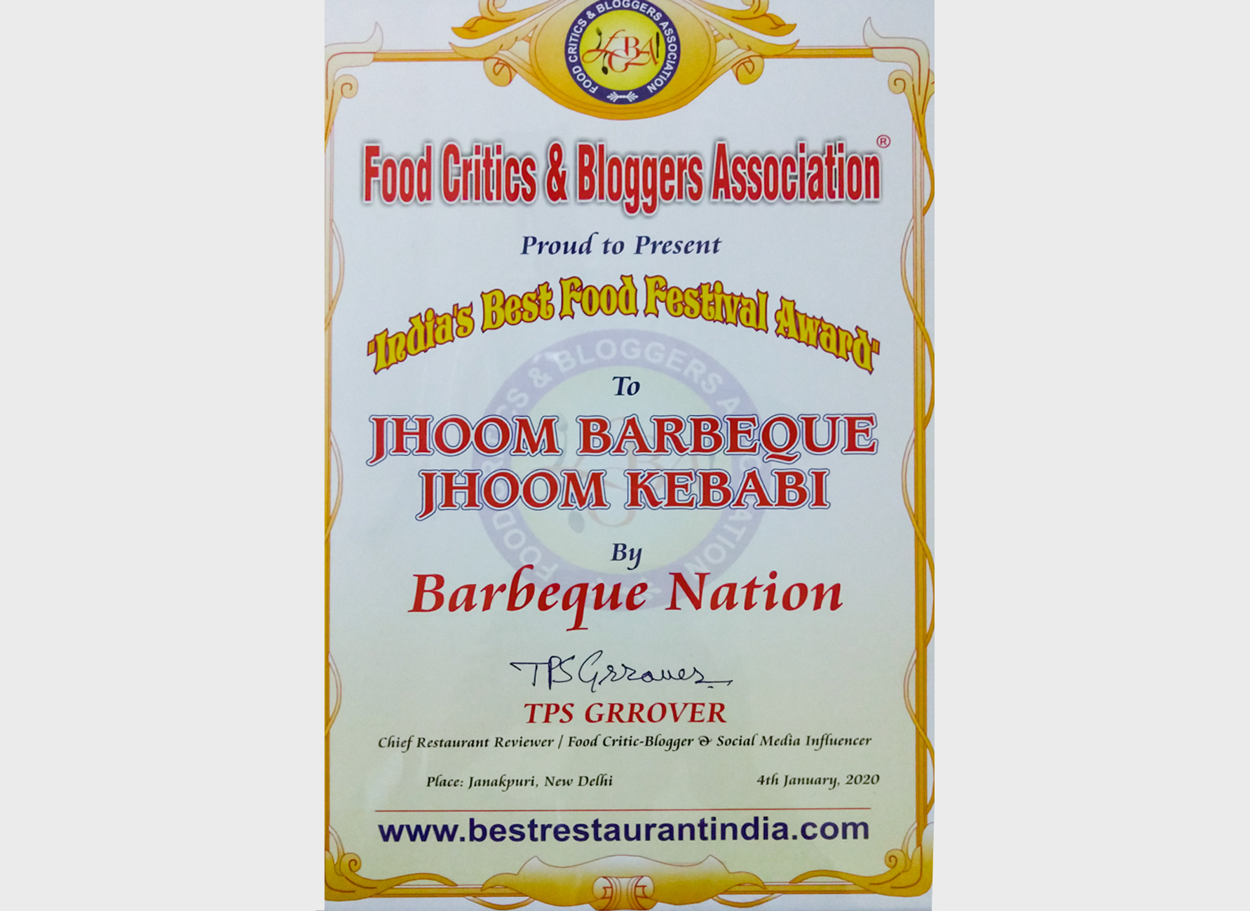 Food Critics & Bloggers Association