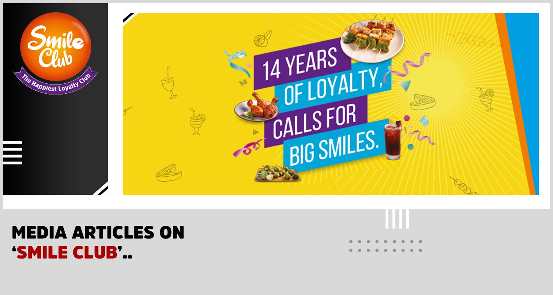 "Barbeque Nation Customer loyalty program- ""Smile Club"""